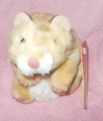 Folkmanis Puppets Hamster Plush Hand Puppet Brown Tan White Nwt