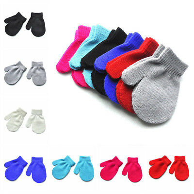 Kids Baby Warm Gloves Soft Winter Gloves Toddler Boy Girl Knitting Mittens child