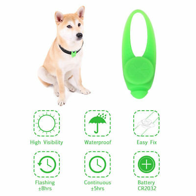 LED Dog Cat Collar Lights Waterproof Pet Luminous Pendant Buckle Necklace Collar