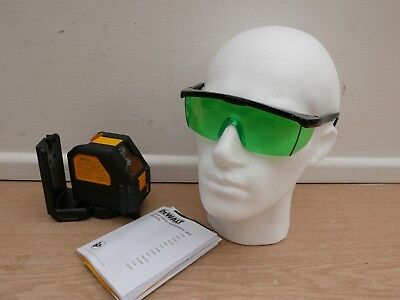 Dewalt Dce088 10.8V Xr Green Cross Line Laser Bare Unit + Glasses