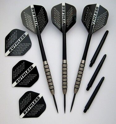 90% Tungsten Ruthless Extra Heavy Knurled Darts - 24gms