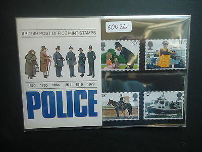 Great Britain Presentation Pack 1979 Police MNH (New Sleeve)