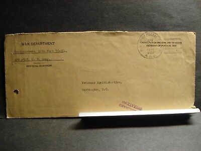 APO 507 LIVERPOOL, ENGLAND 1944 Official WWII Army Cover HQ 15th PORT TC-281