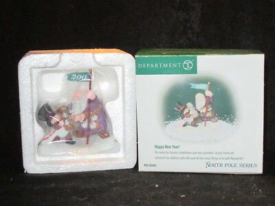 """Dept.56 """"Happy New Year""""  North Pole Series   #56443   New!"""