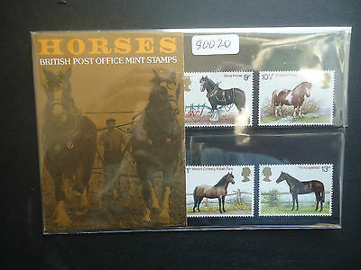 Great Britain Presentation Pack 1978 Horses MNH (New Sleeve)