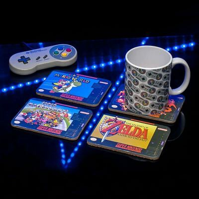 Official Licensed Nintendo SNES Games Classic Coaster Set of 4