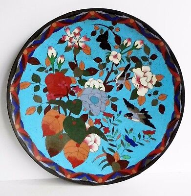 Wonderful Large Rare Old Oriental Cloisonne Charger / Plate - Chinese / Japanese