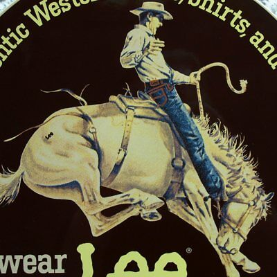 LEE RIDERS Cowboy  Emailschild USA Kansas 80er Jeans MAKELLOS Rodeo Pferd SELTEN