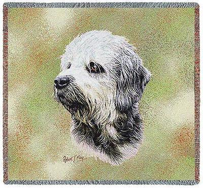 Lap Square Blanket - Dandie Dinmont Terrier by Robert May 6367 IN STOCK