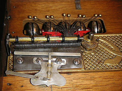 Antique Victorian Kalliope Bell Disc Music Box With 10 Bells 10 Discs Regina Uhr