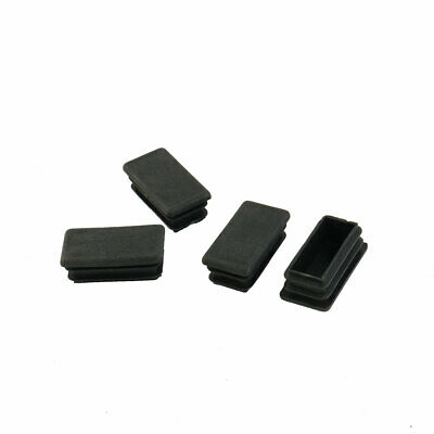 Rectangle plastique Bureau Couvercle obturation tuyau noir Tube insertion 4pcs