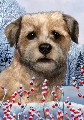 Garden Indoor/Outdoor Winter Flag - Border Terrier 151221