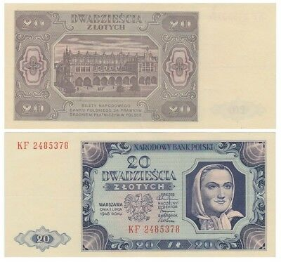 2o Zlots Polish banknote issued in 1948 KF xf