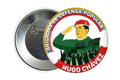 Badge Pin Button 38 mm Hugo Chavez Venezuela