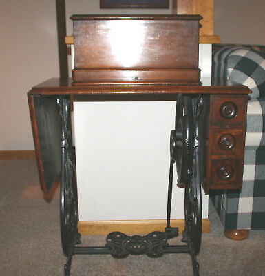 Antique WIllcox and Gibbs Treadle Sewing Machine Attachments Stand