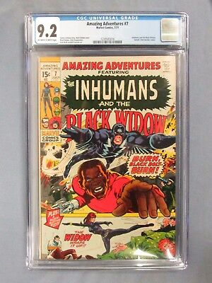 Amazing Adventures #7 (1971) Inhumans, Black WIdow CGC 9.2 Marvel Comics CV152