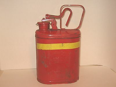 Vintage Eagle One Gallon Red with Yellow Strip Can Model No. 1401