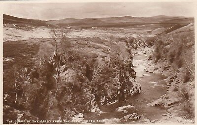 Postcard - Scotland - The Gorge of The Garry from The Great North Road