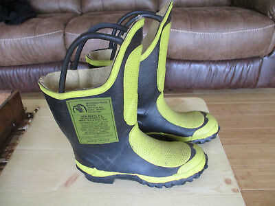 Pair Of Morning Pride Fireman Boots-Turnout, Bunker Gear Men's Size 7.5 Narrow