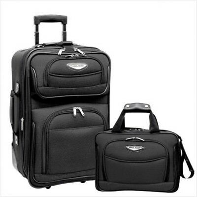 Travelers Choice TS6902G Amsterdam 2 Piece Carry-On Luggage Set in Gray