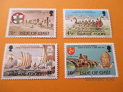 Isle Of Man 1974 Historical Anniversaries Set Of 4  U/mint Free Postage