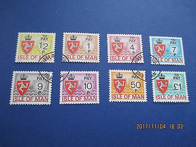 Isle Of Man 1975,postage Dues Cto, Set Of 8, See Scan