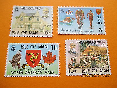 Isle Of Man 1978 Anniversaries And Events Set Of 4  U/mint Free Postage