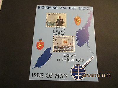 Isle Of Man 1980 Ms180 Renewing Ancient Links Mini Sheet, Cto, See Scan