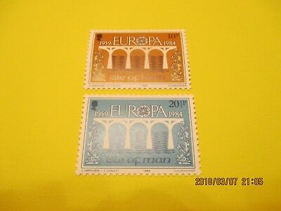 Isle Of Man 1984 Europa Set, U/mint Free Postage