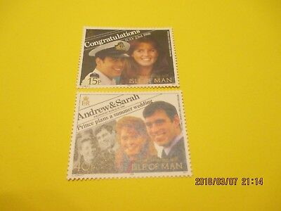 Isle Of Man 1986 Royal Wedding Set, U/mint, Free Postage