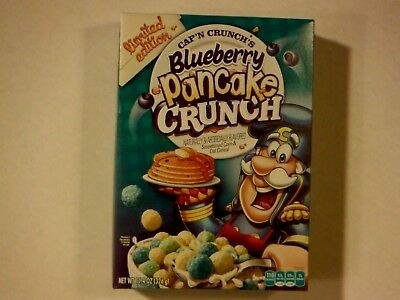 Cap'n Crunch's Blueberry Pancake Crunch Cereal Box Limited Edition 2017 Sealed