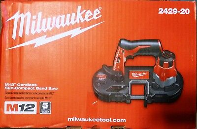 New Milwaukee 2429-20 M12 Cordless Sub-Compact Band Saw (Tool Only)