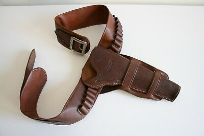 RM Bachman Old West Reproductions .45 Colt Cowboy Holster Bullet Belt w36