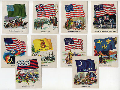 10 U.S. Flag Collector Stickers From 1976, Quality Bakers Of America Bread