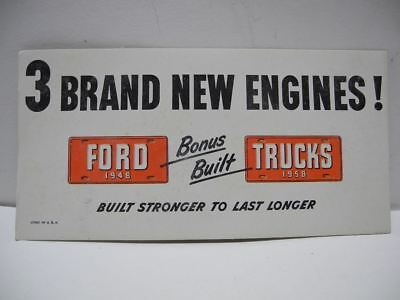1948 FORD Bonus Built Trucks 3 Brand New Engines Ink Blotter