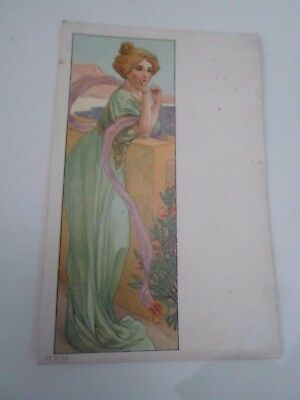 Early Art Deco Postcard by S Hildesheimer+Co No 5152 Franked+Stamped 1907  §A422