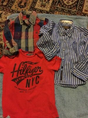 3 Baby Boys Shirts And T-Shirt. Gap, Hilfiger, Sacoor Brothers, Age 18-24 Months