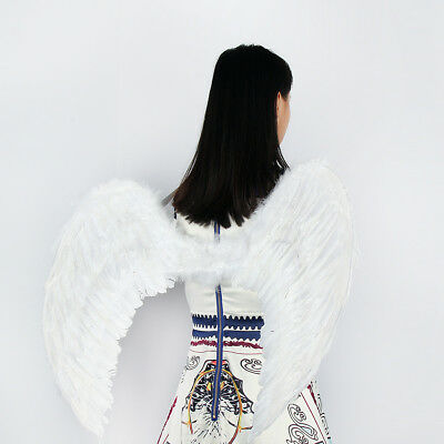 🔥Christmas Adults Feather Angel Fairy Wings Sweet Kids Baby Fancy Dress Up Part