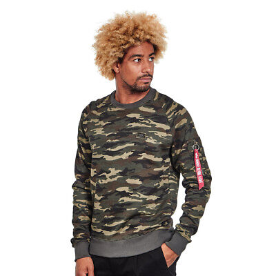 Alpha Industries - X-Fit Sweater Woodland Camo 65 Pullover Rundhals