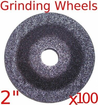 "(box of 100) 2"" Mini Air Angle Grinder Grinding Wheels fits tools mac jet"