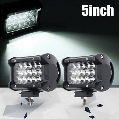 2x 5inch 168W LED Work Light Bar Spot Beam Driving Lamp Offroad SUV ATV Car Boat