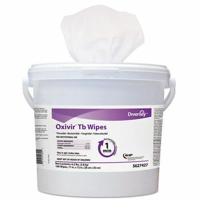 Diversey Oxivir Tb Disinfectant Wipes, 11 X 12, White, 160/bucket, 4 Bucket/cart
