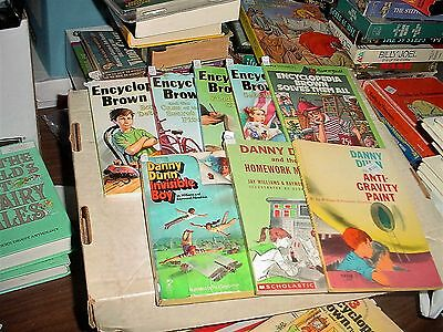 Encyclopedia Brown Books 1-5 and Three Danny Dunn Books