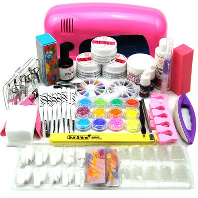 DIY 9W UV Gel Nail Dryer Nail Art Starter Set UV Gel Nail Set Nail Art Kit Set