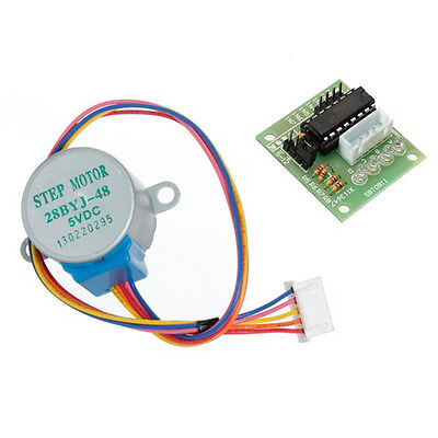 2pcs DC Stepper Motor +ULN2003 Driver Test Module Board 28BYJ-48 for Arduino.
