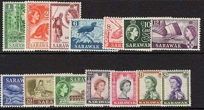 Sarawak Sg188/201 1955-9 Definitive Set To $2 Mtd Mint