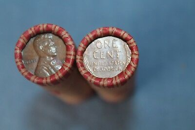 USA 50 x 1 Cent Lincoln Wheat Weizen Penny Cents gemischte Rolle 1909-1958