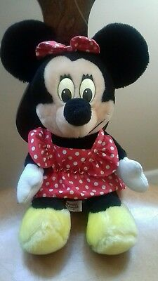 "Disneyland Walt Disney World Minnie Mouse Plush 12"" Soft Toy Vintage VGC"