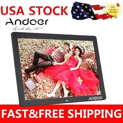"""17"""" LED 1080P Digital Photo Picture Frame Alarm Clock MP3/4 Christmas Gift H4R9"""