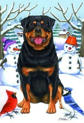 Garden Indoor/Outdoor Winter Flag - Rottweiler (TP) 610021